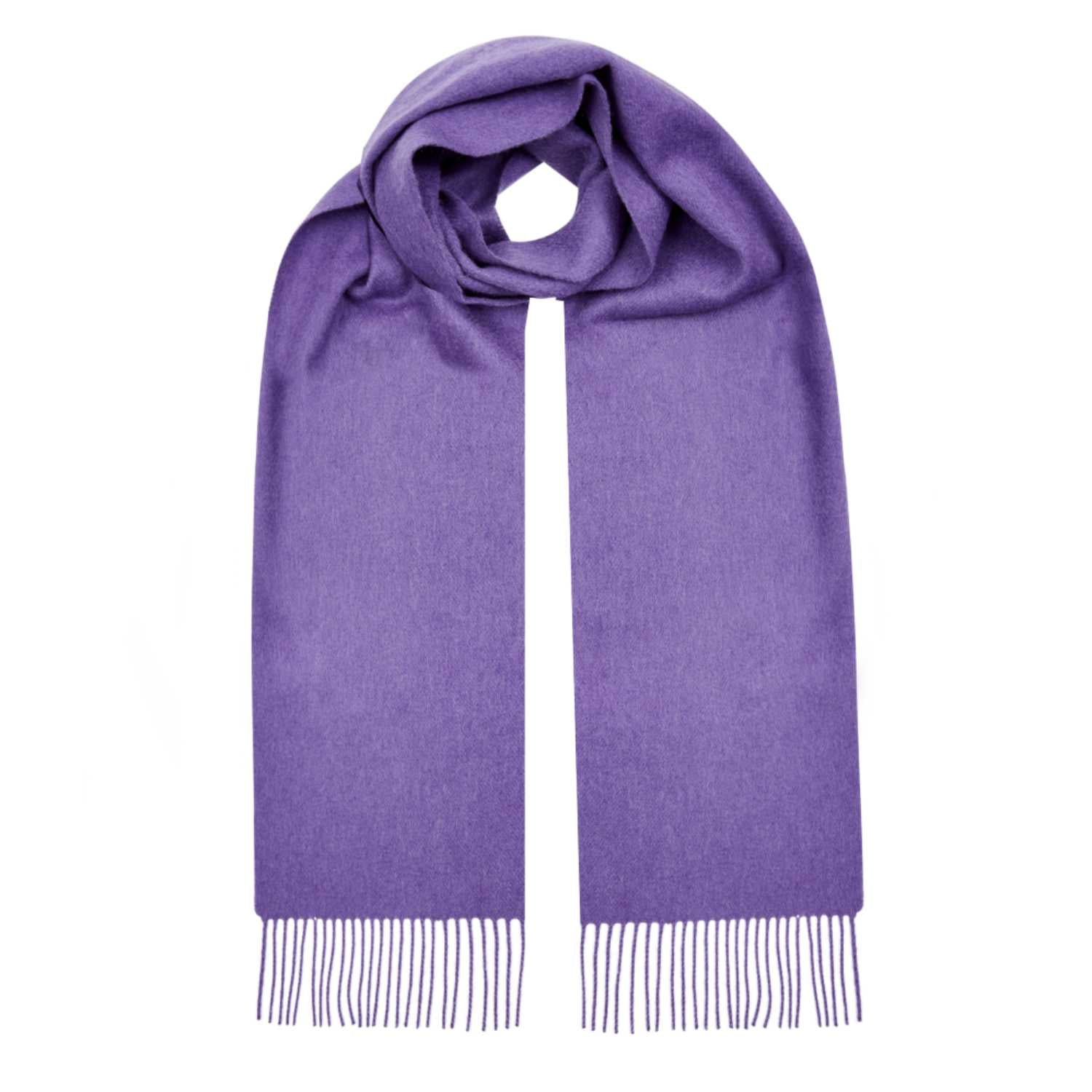Lomond Cashmere | Violet Purple | Plain Cashmere Scarf | Shop at The Cashmere Choice | London