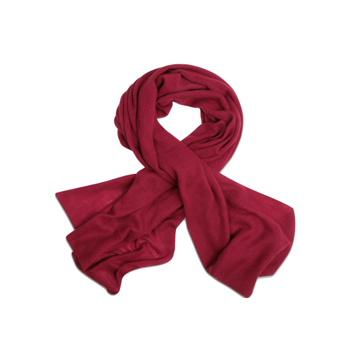 Bordeaux Wine | Knitted Cashmere Stole | Knitted Cashmere Scarf | Shop at The Cashmere Choice | London