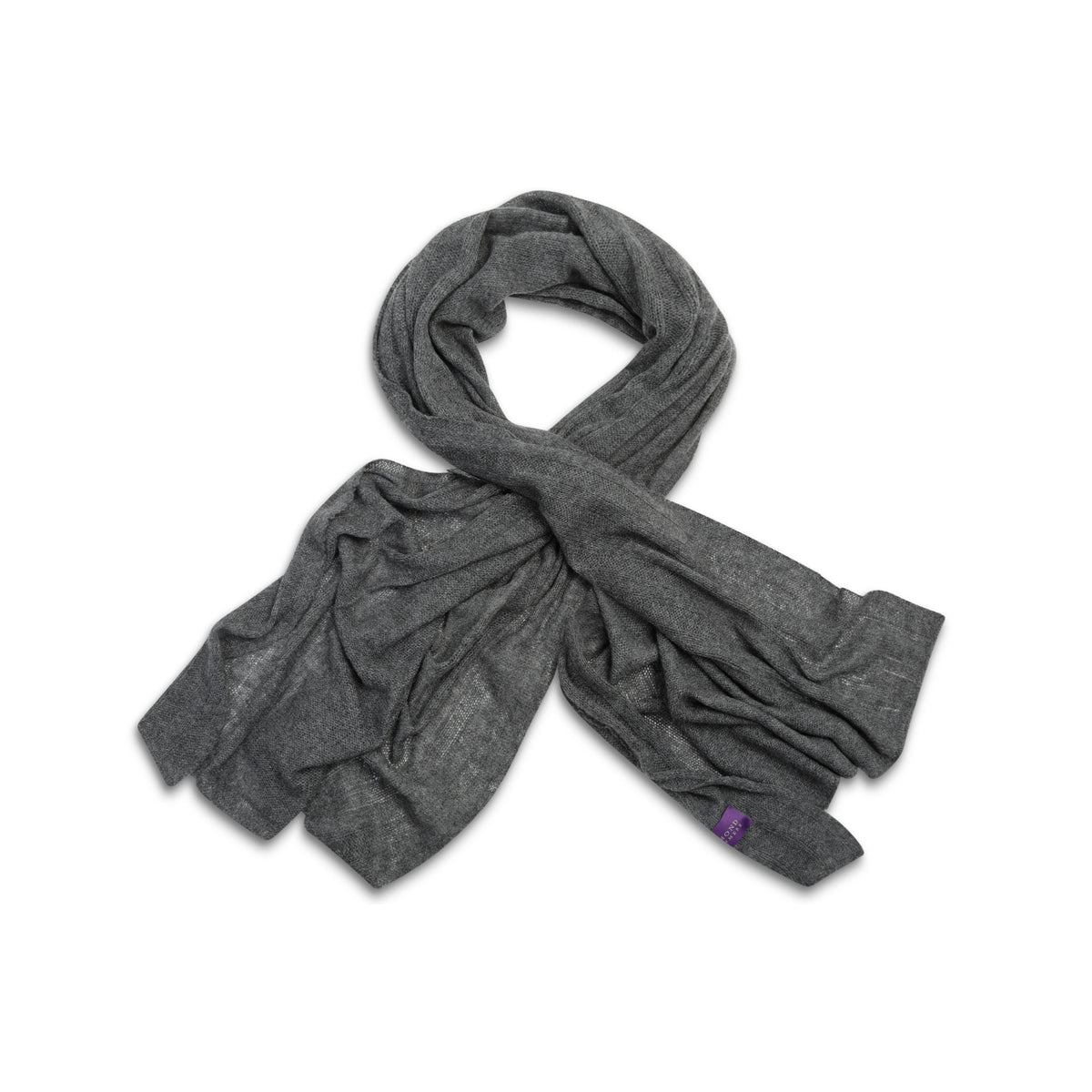 Charcoal Grey | Knitted Cashmere Stole | Knitted Cashmere Scarf | Shop at The Cashmere Choice | London