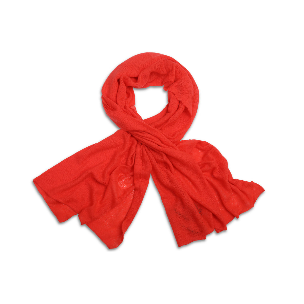 Geranium Red | Knitted Cashmere Stole | Knitted Cashmere Scarf | Shop at The Cashmere Choice | London