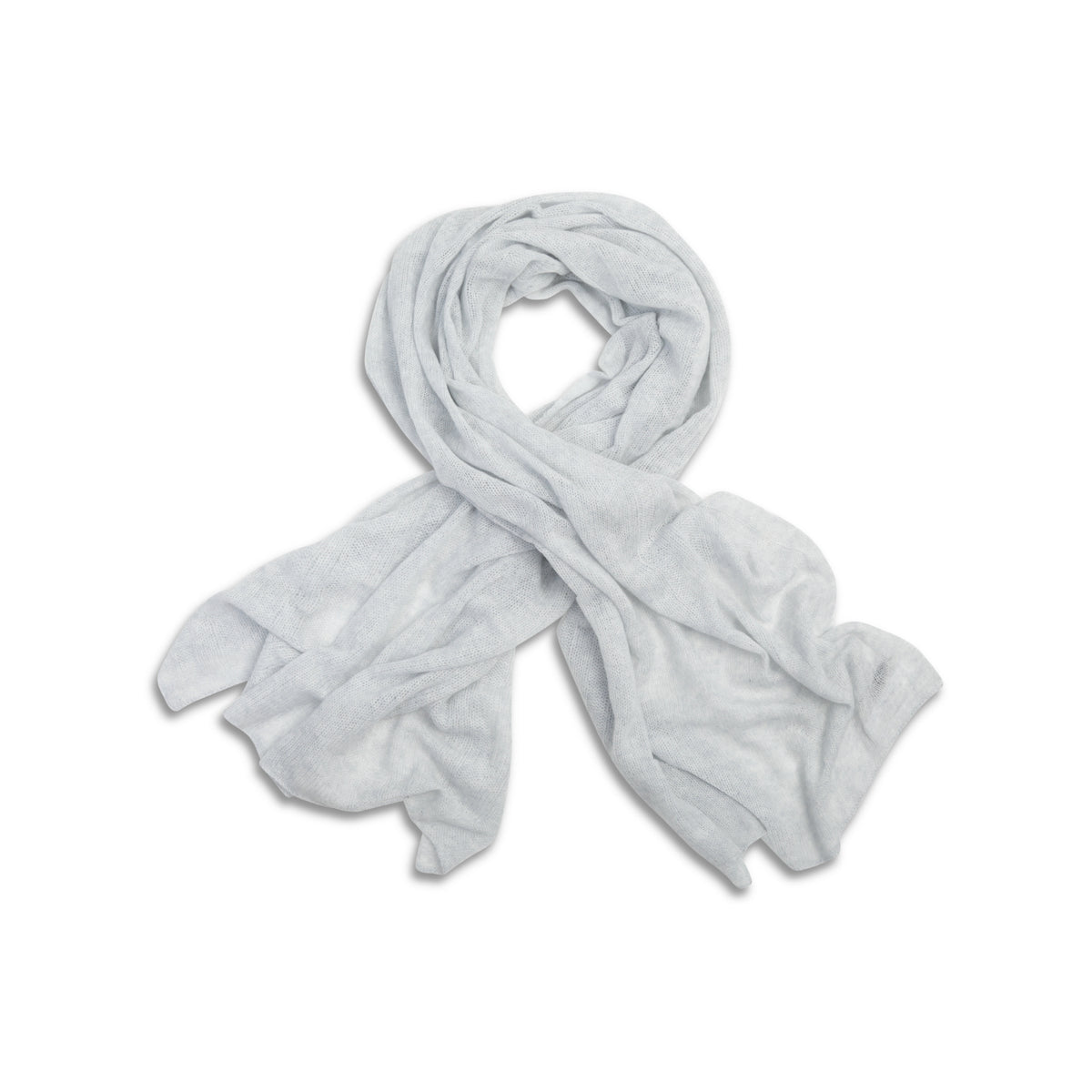Light Grey | Knitted Cashmere Stole | Knitted Cashmere Scarf | Shop at The Cashmere Choice | London