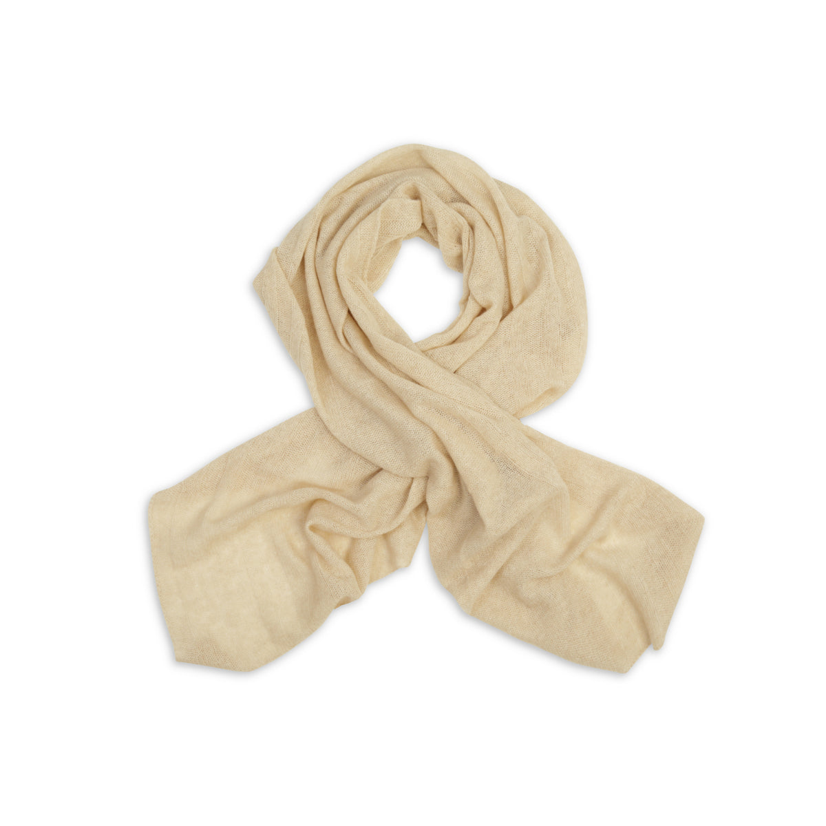 Beige | Knitted Cashmere Stole | Knitted Cashmere Scarf | Shop at The Cashmere Choice | London