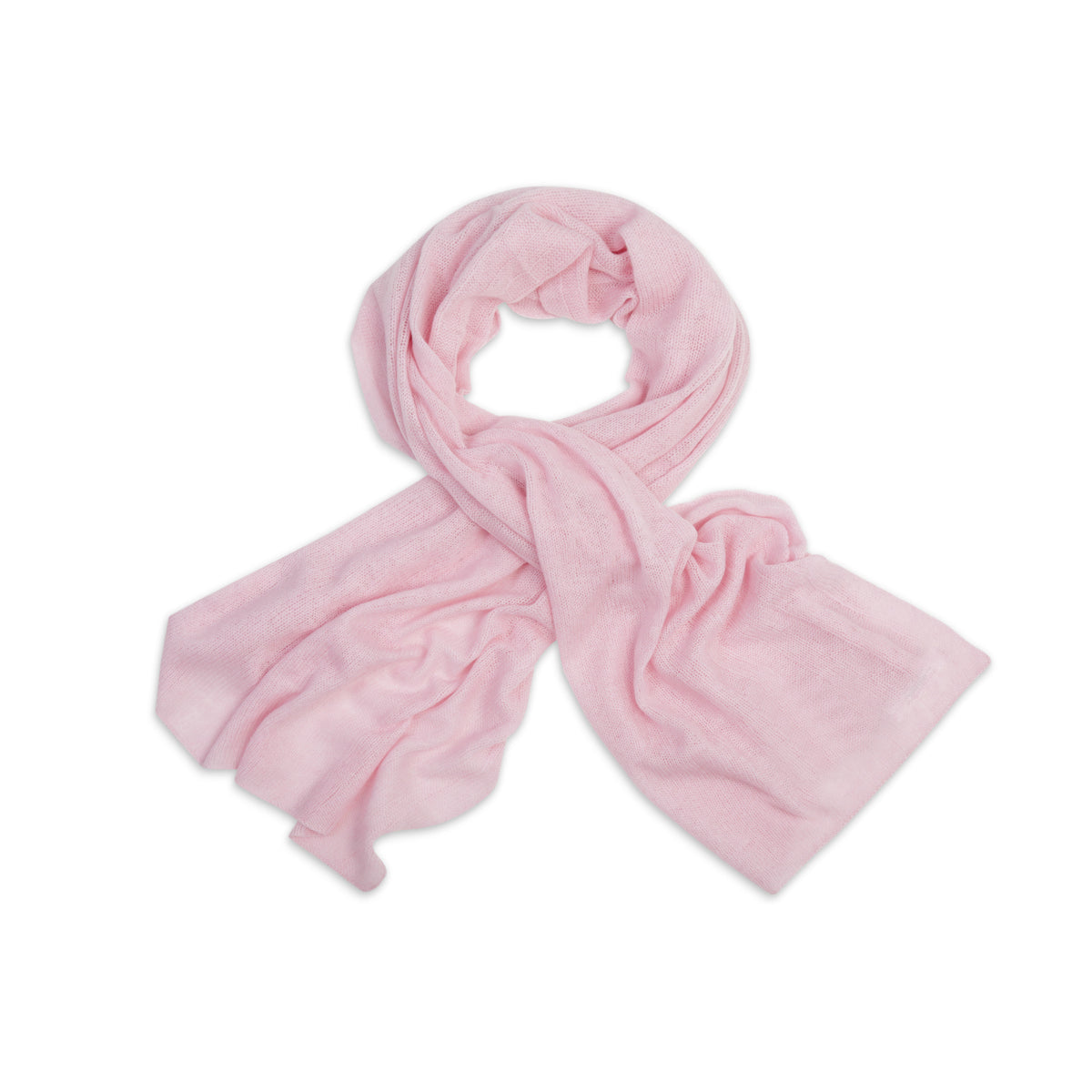 Powder Pink | Knitted Cashmere Stole | Knitted Cashmere Scarf | Shop at The Cashmere Choice | London