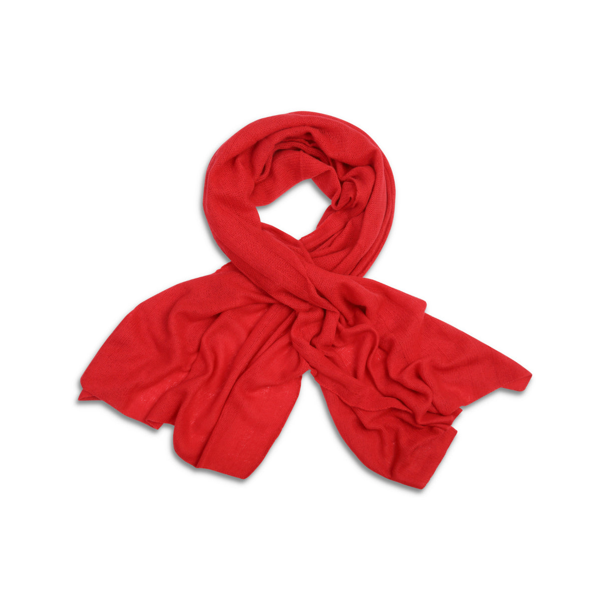 Red | Knitted Cashmere Stole | Knitted Cashmere Scarf | Shop at The Cashmere Choice | London