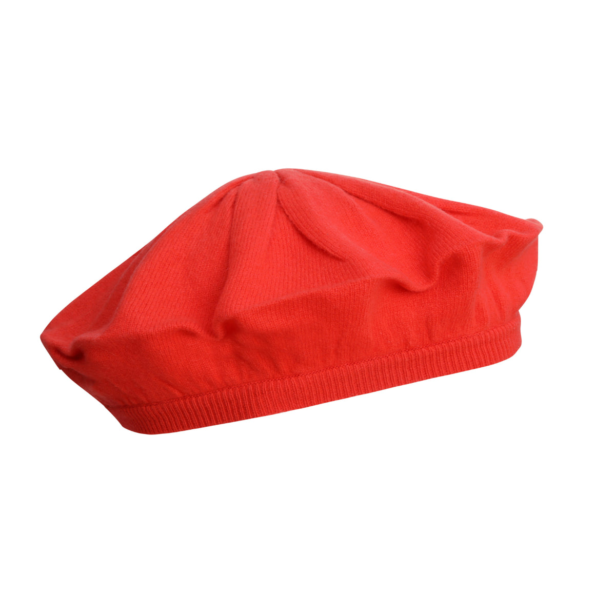 Red Cashmere Beret | buy now at The Cashmere Choice London