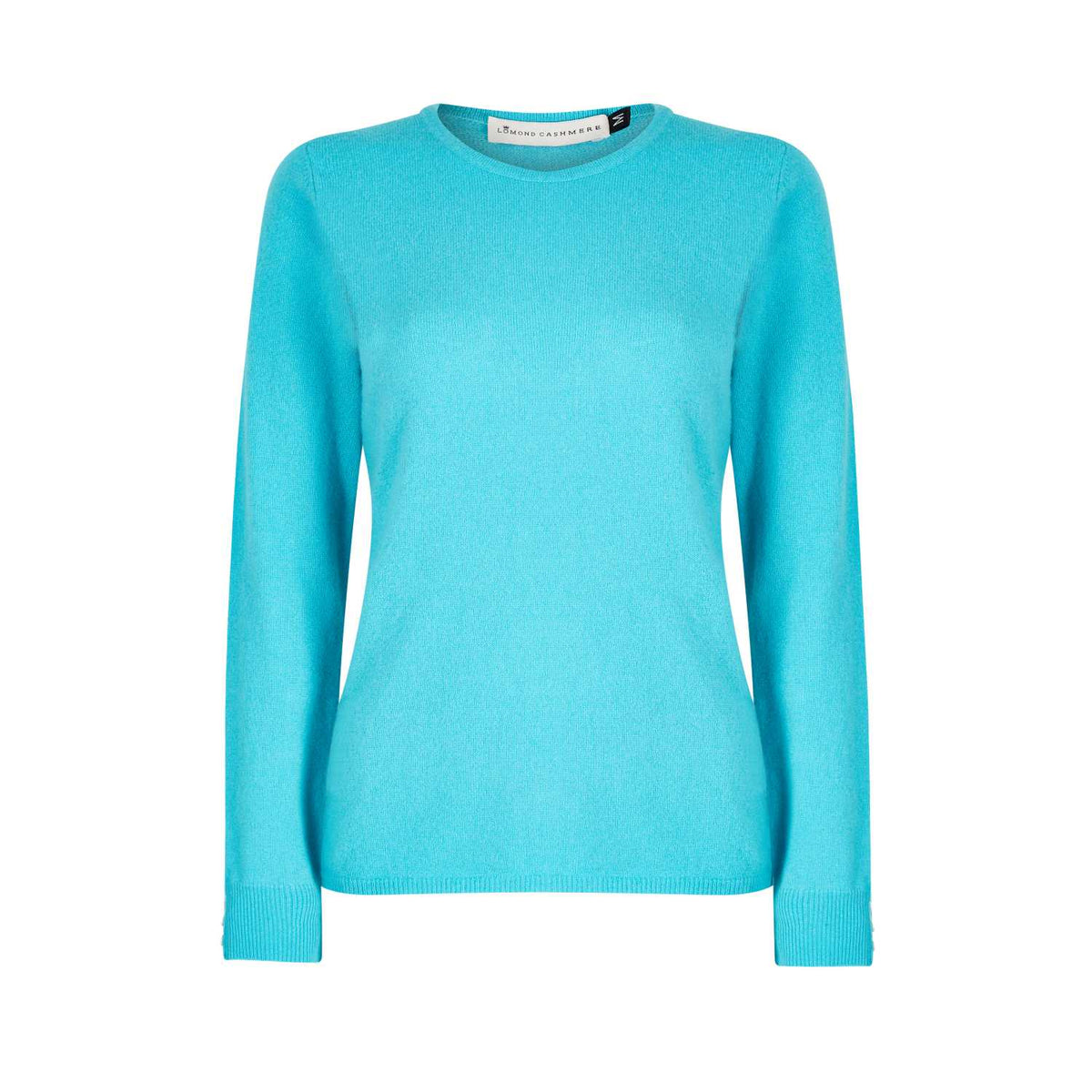 Lomond Cashmere | Ladies 2-Ply Cashmere Round Neck | Jade Green | Shop now at The Cashmere Choice | London