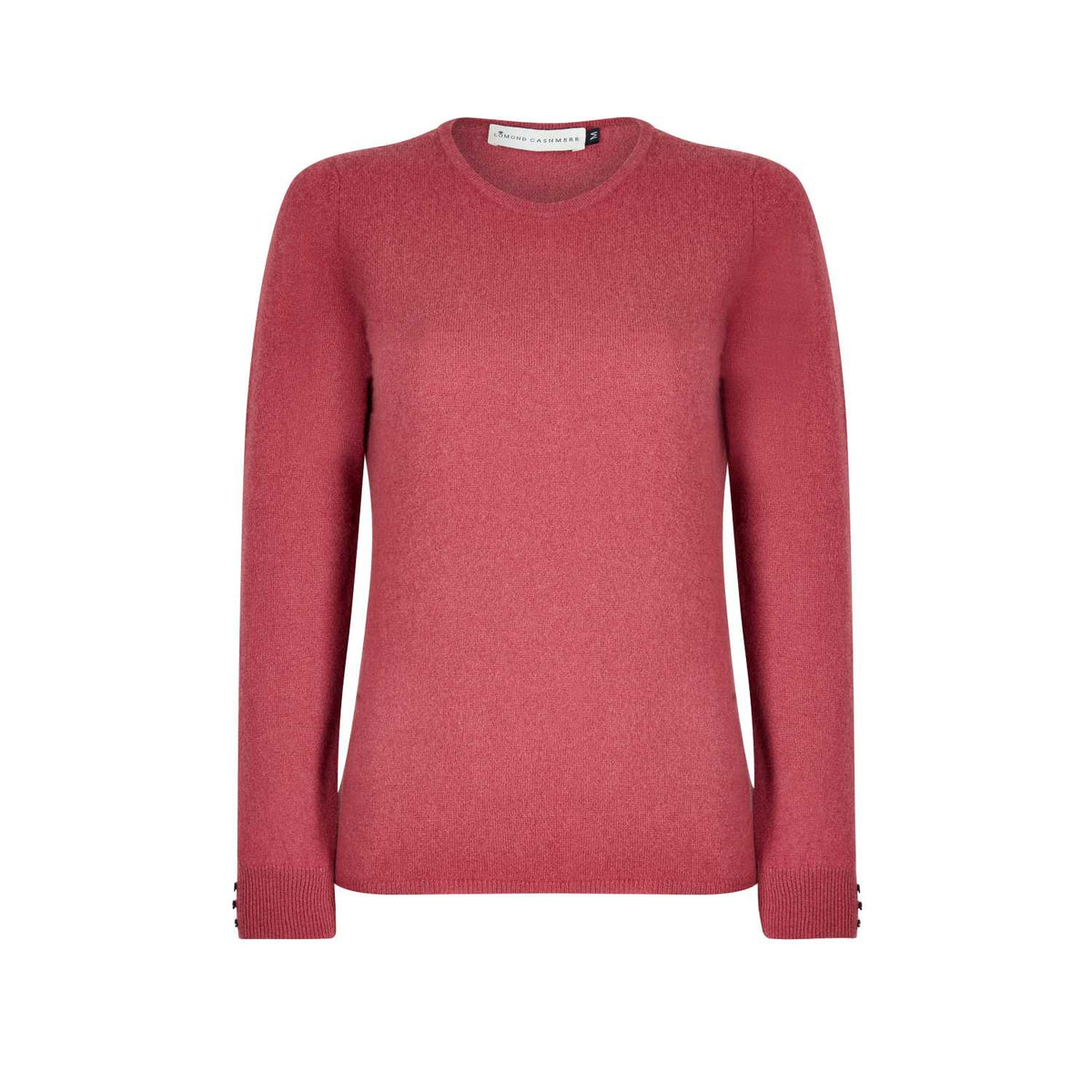 Lomond Cashmere | Ladies 2-Ply Cashmere Round Neck | Rosewood Pink | Shop now at The Cashmere Choice | London
