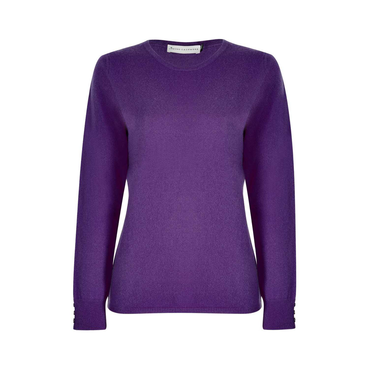 Lomond Cashmere | Ladies 2-Ply Cashmere Round Neck | Royal Purple | Shop now at The Cashmere Choice | London