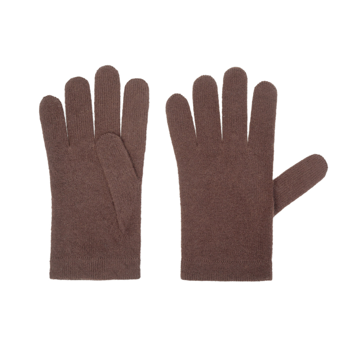 Ladies Organic Chocolate Brown Cashmere Gloves | Shop now at The Cashmere Choice | London