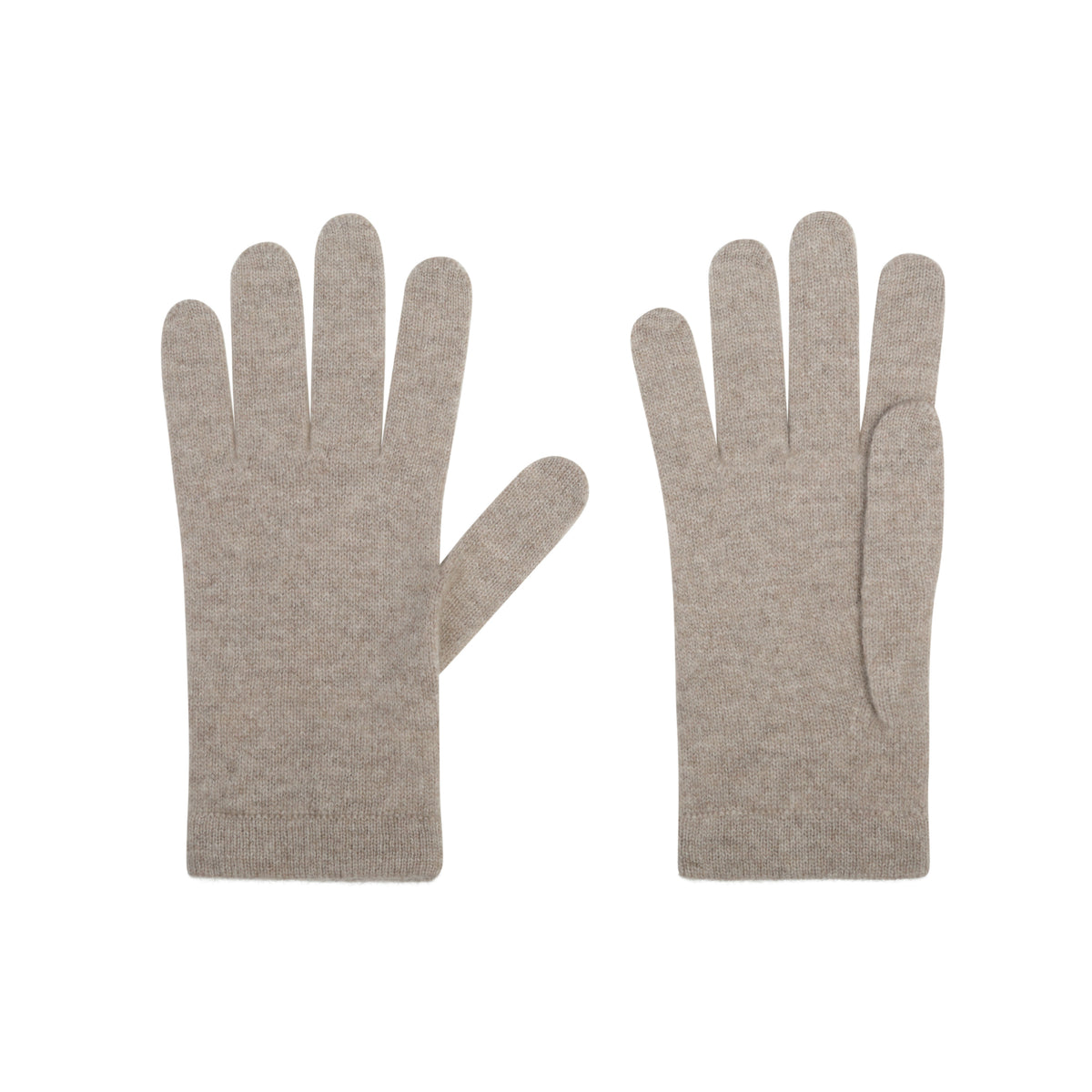 Ladies Organic Mid Brown Cashmere Gloves | Shop now at The Cashmere Choice | London