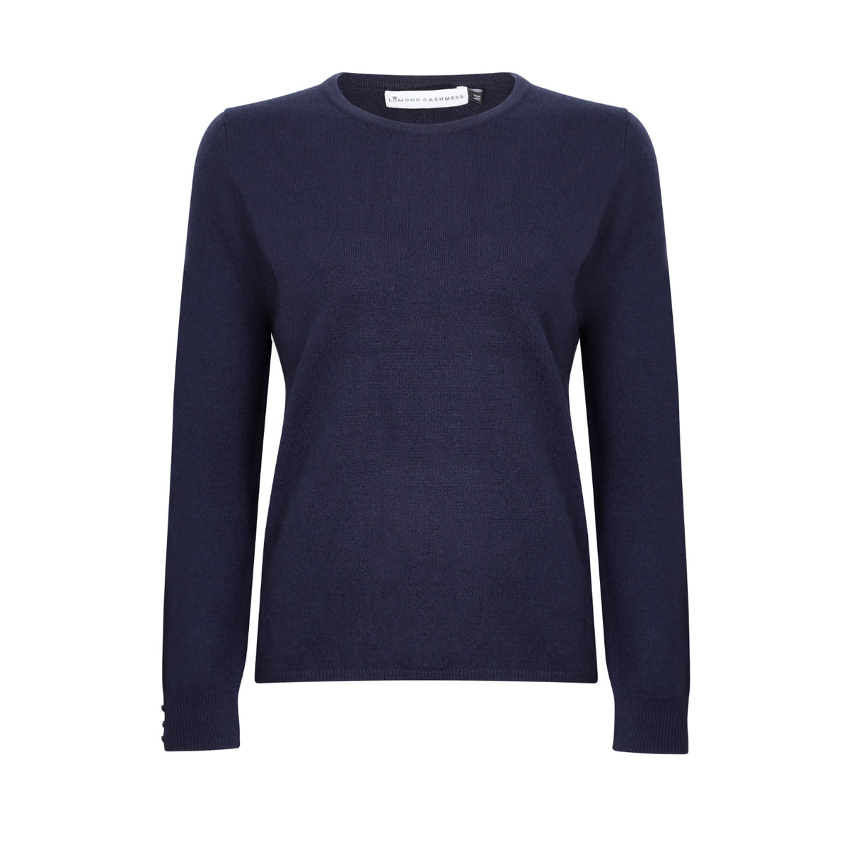 Lomond Cashmere | Ladies 2-Ply Cashmere Round Neck | Navy Blue | Shop now at The Cashmere Choice | London