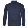 Mens Blue Marl Cashmere Sweater | Jumper | Polo Shirt | buy now at The Cashmere Choice London