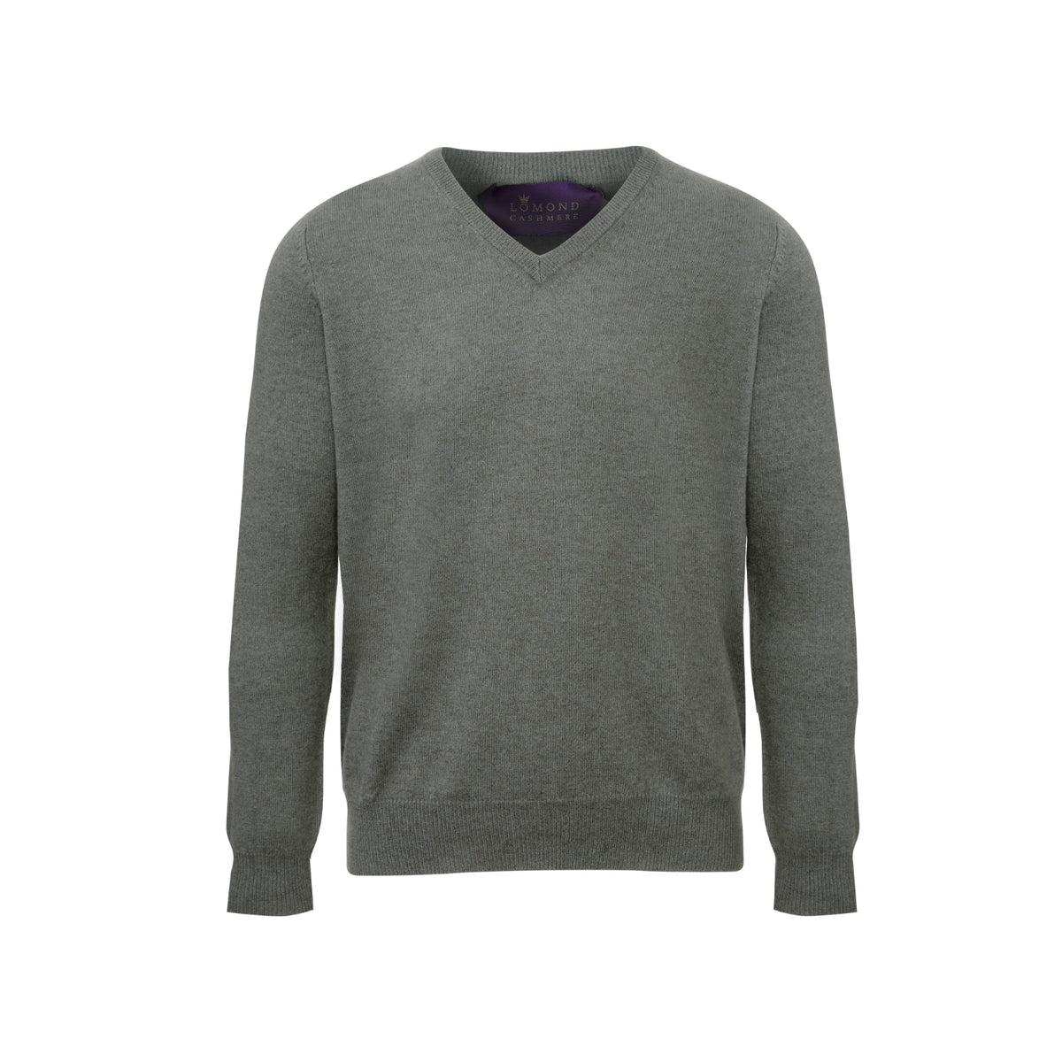 Army Green Mens Cashmere V neck Sweater | Jumper | buy now at The Cashmere Choice London