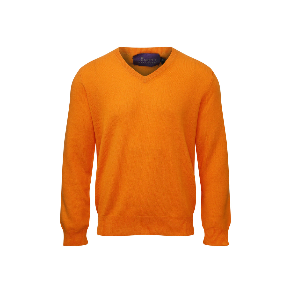Orange Mens Cashmere V neck Sweater | Jumper | buy now at The Cashmere Choice London