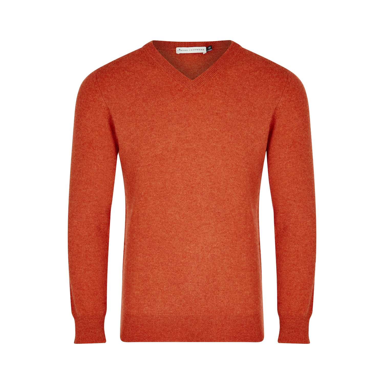 Lomond Cashmere | Mens 2-Ply Cashmere V Neck | Rosewood Pink | Shop now at The Cashmere Choice | London