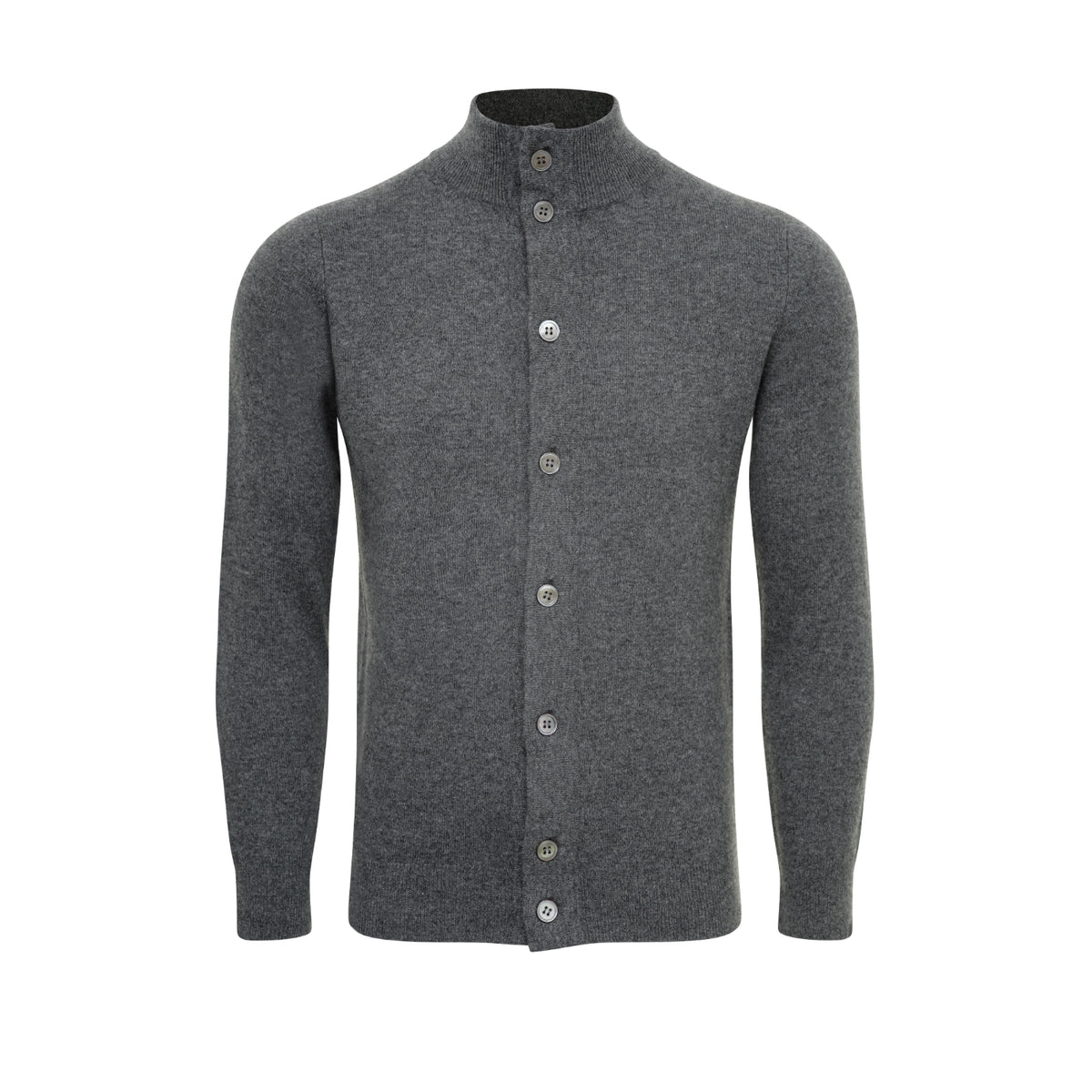 Mens Cashmere Jacket Cardigan | Grey | Shop at The Cashmere Choice | London