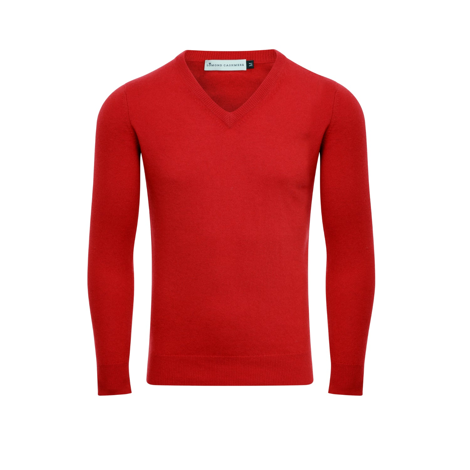Lomond Mens Fitted Cashmere V Neck Sweater