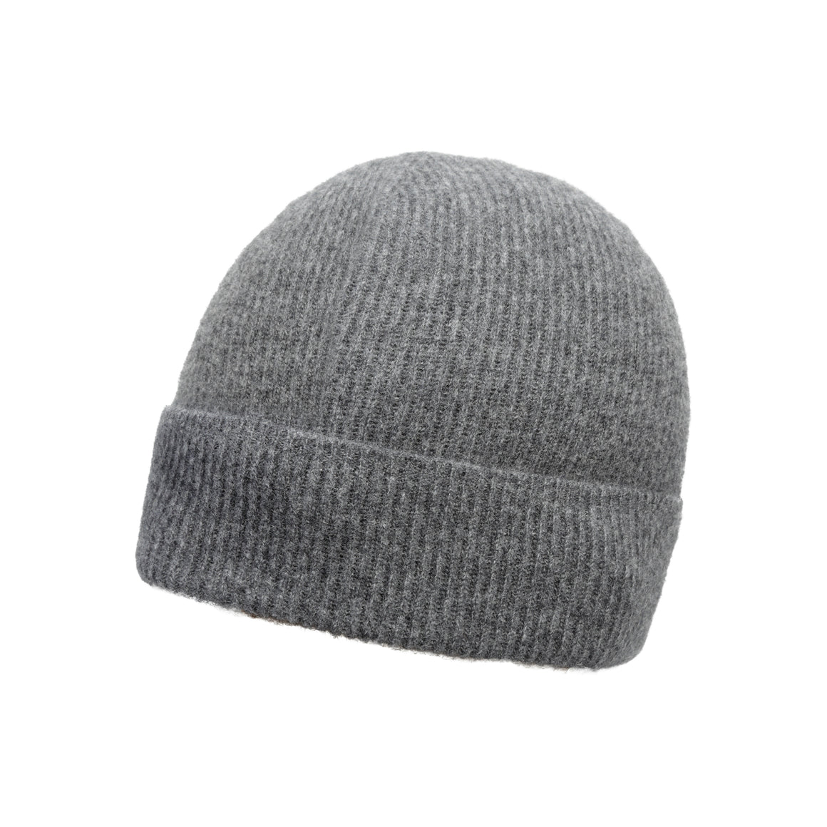 Charcoal Grey Ribbed | Pure Cashmere Beanie | shop now at The Cashmere Choice London