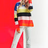 Lomond - Striped Ladies Cashmere Sweater