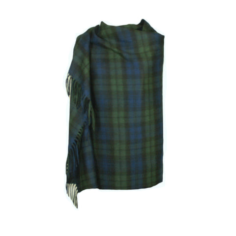Black Watch Tartan Cashmere Stole | Large Scarf | buy at The Cashmere Choice | London
