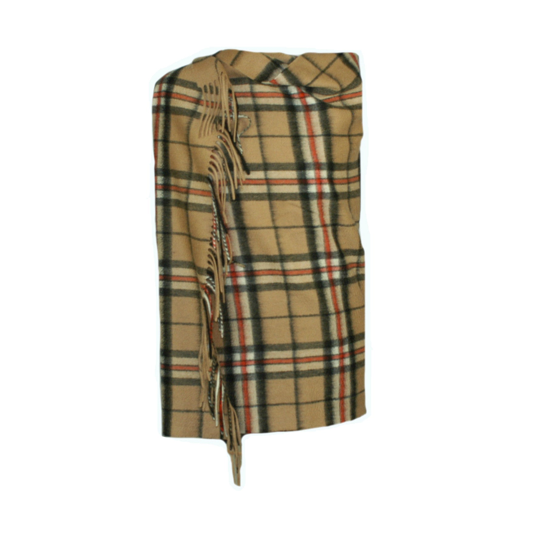Camel Thompson Tartan Cashmere Stole | Large Scarf | buy at The Cashmere Choice | London