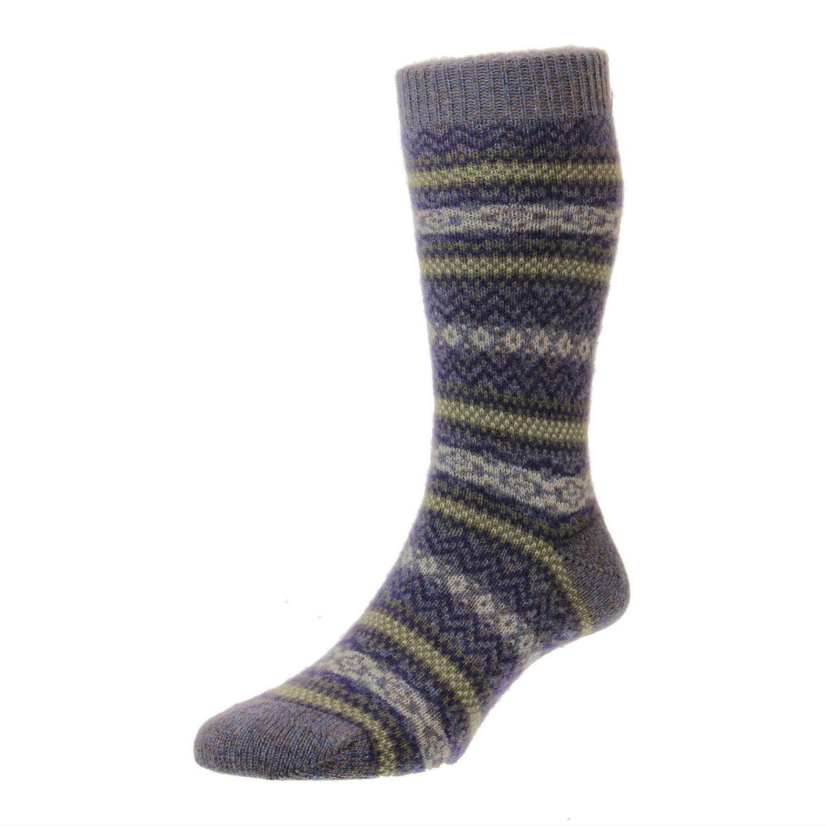 Heather Marl | Mens Cashmere Socks | Made in England | Fairisle Sock | buy now at The Cashmere Choice London