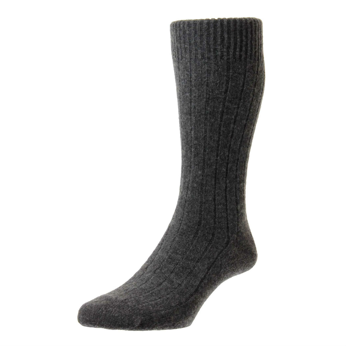 Charcoal Grey | Mens Cashmere Socks | Made in England | Calf Length Sock | buy now at The Cashmere Choice London
