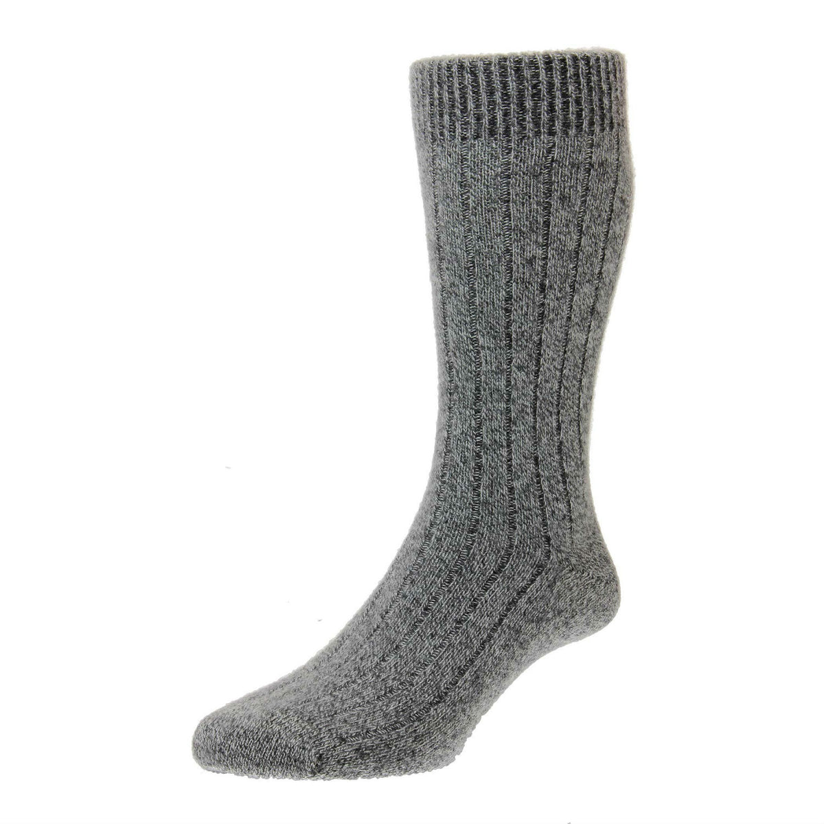 Charcoal Grey Chine | Mens Cashmere Socks | Made in England | Calf Length Sock | buy now at The Cashmere Choice London