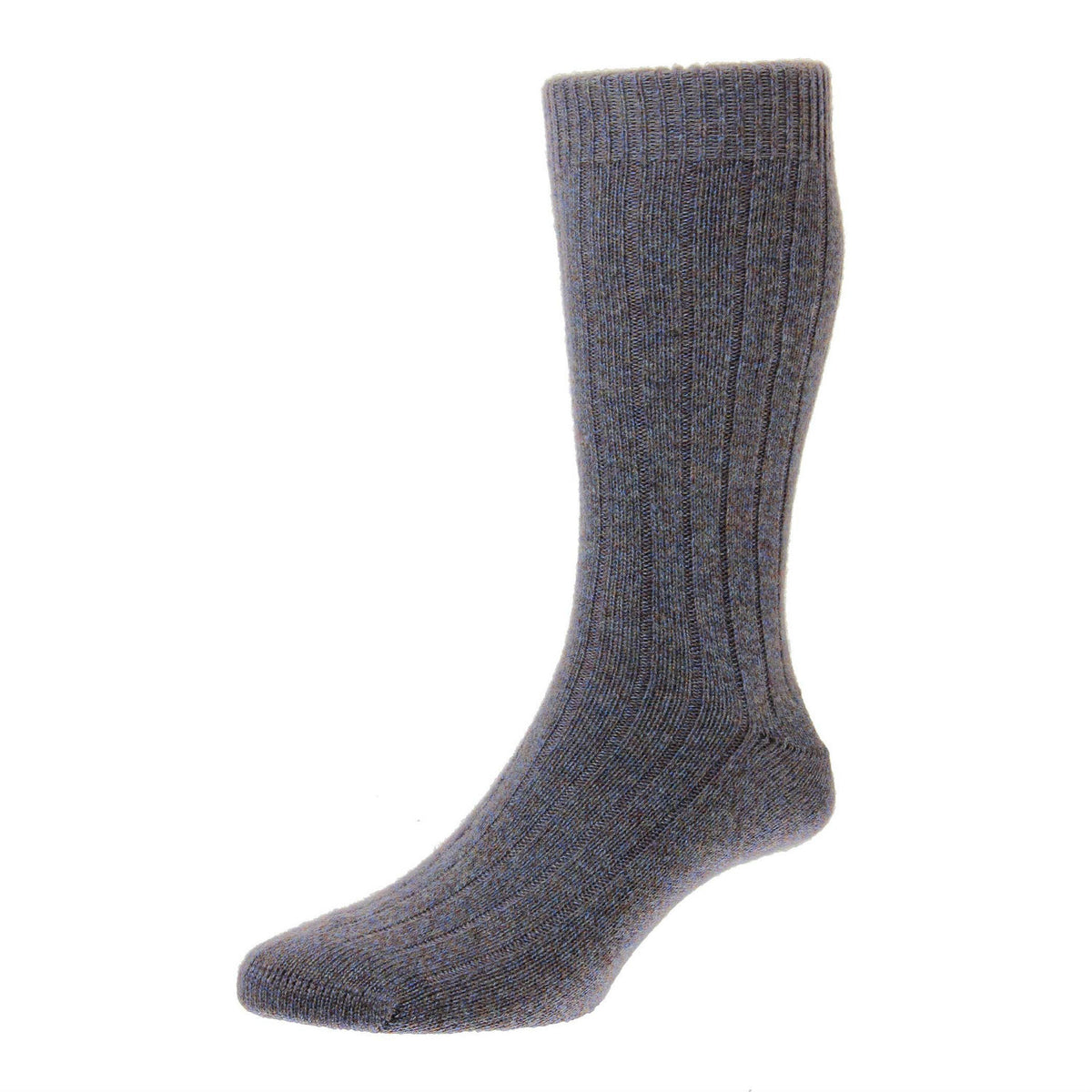 Heather Marl | Mens Cashmere Socks | Made in England | Calf Length Sock | buy now at The Cashmere Choice London