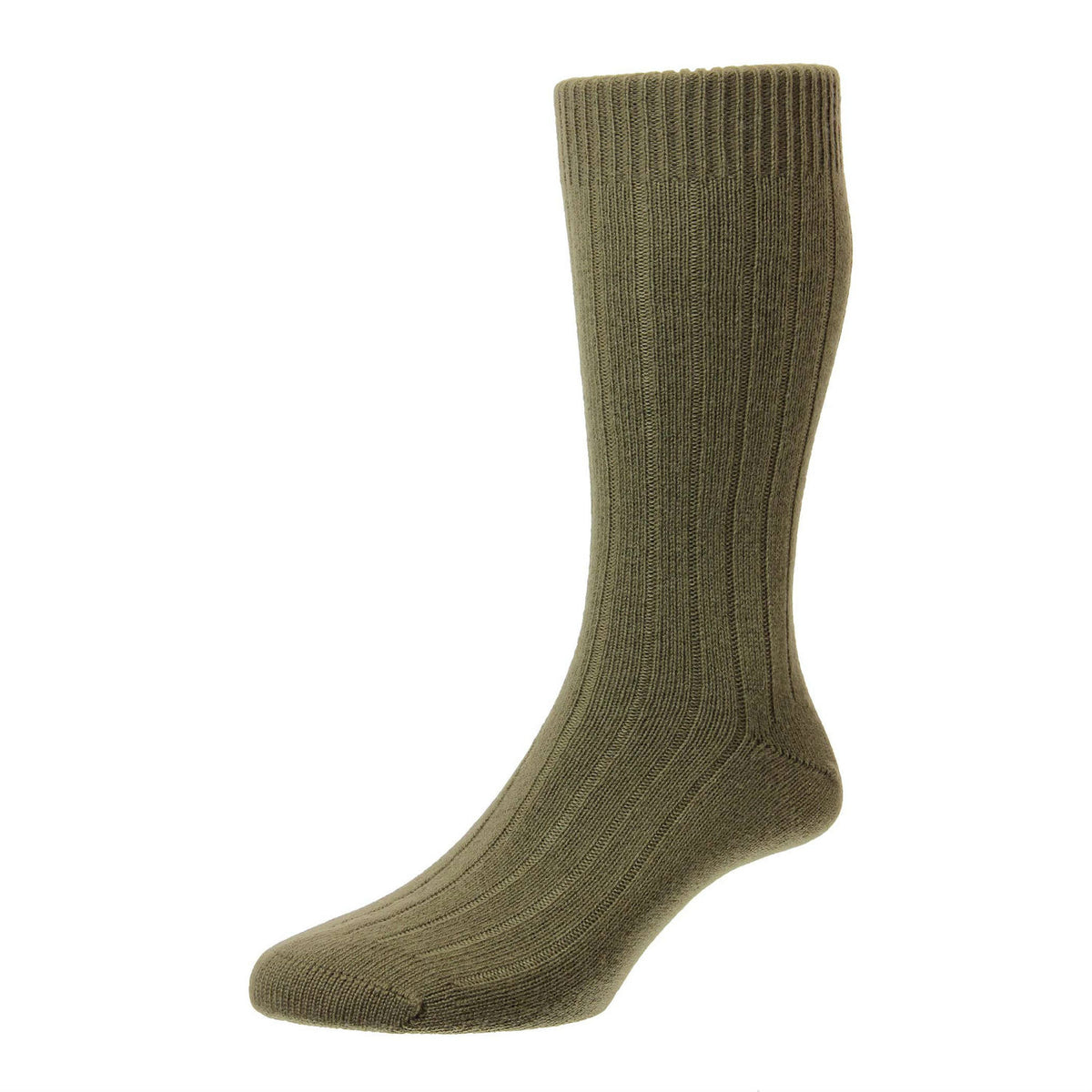 Light Olive Green | Mens Cashmere Socks | Made in England | Calf Length Sock | buy now at The Cashmere Choice London