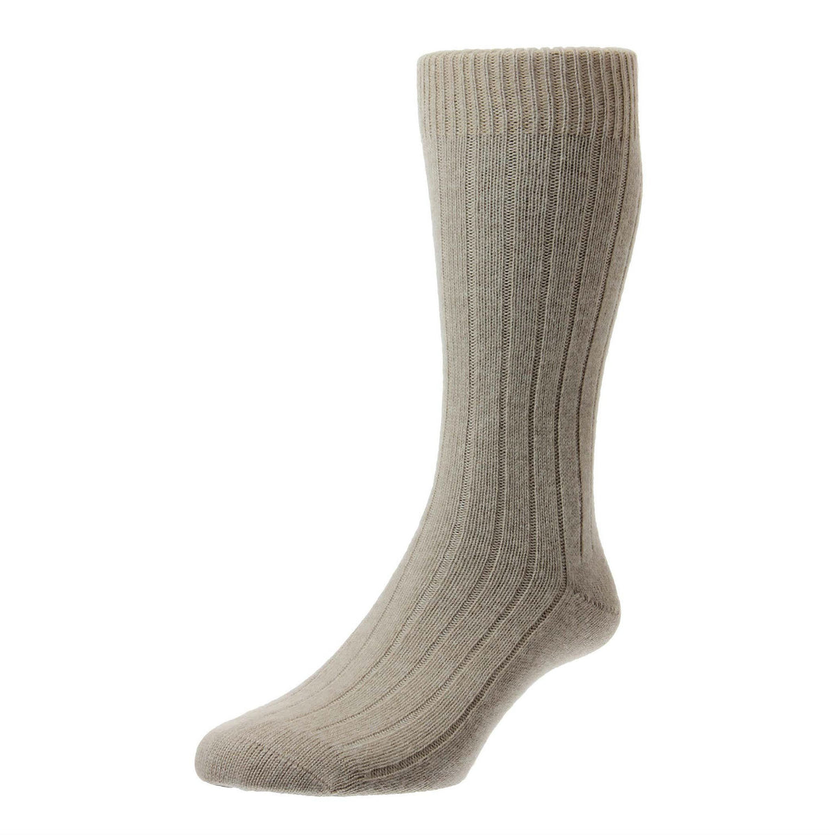 Natural Beige | Mens Cashmere Socks | Made in England | Calf Length Sock | buy now at The Cashmere Choice London