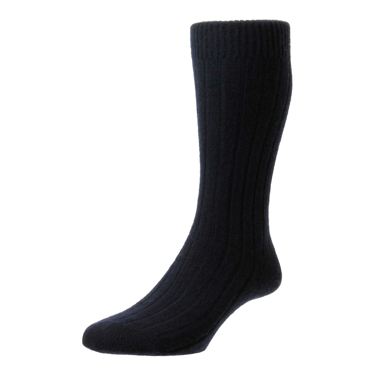 Navy Blue | Mens Cashmere Socks | Made in England | Calf Length Sock | buy now at The Cashmere Choice London