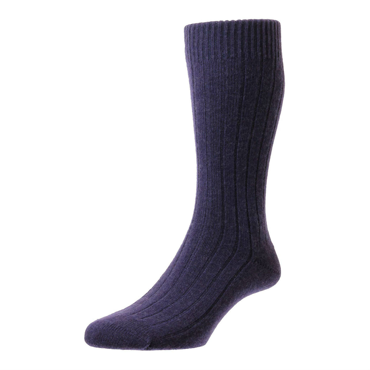 Purple Plum | Mens Cashmere Socks | Made in England | Calf Length Sock | buy now at The Cashmere Choice London