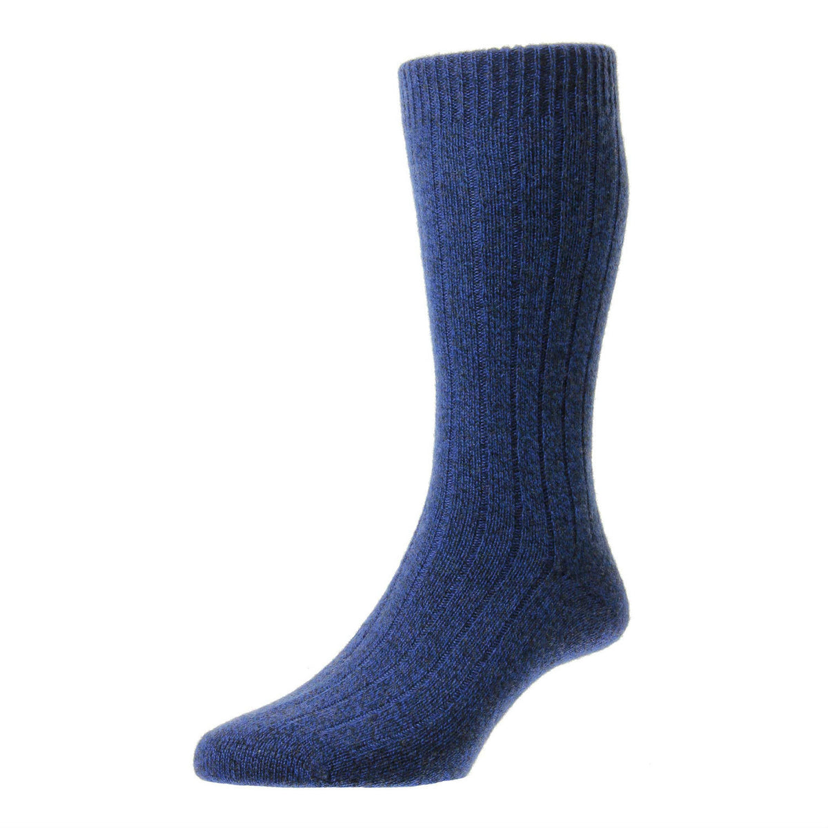 Royal Denim Blue | Mens Cashmere Socks | Made in England | Calf Length Sock | buy now at The Cashmere Choice London