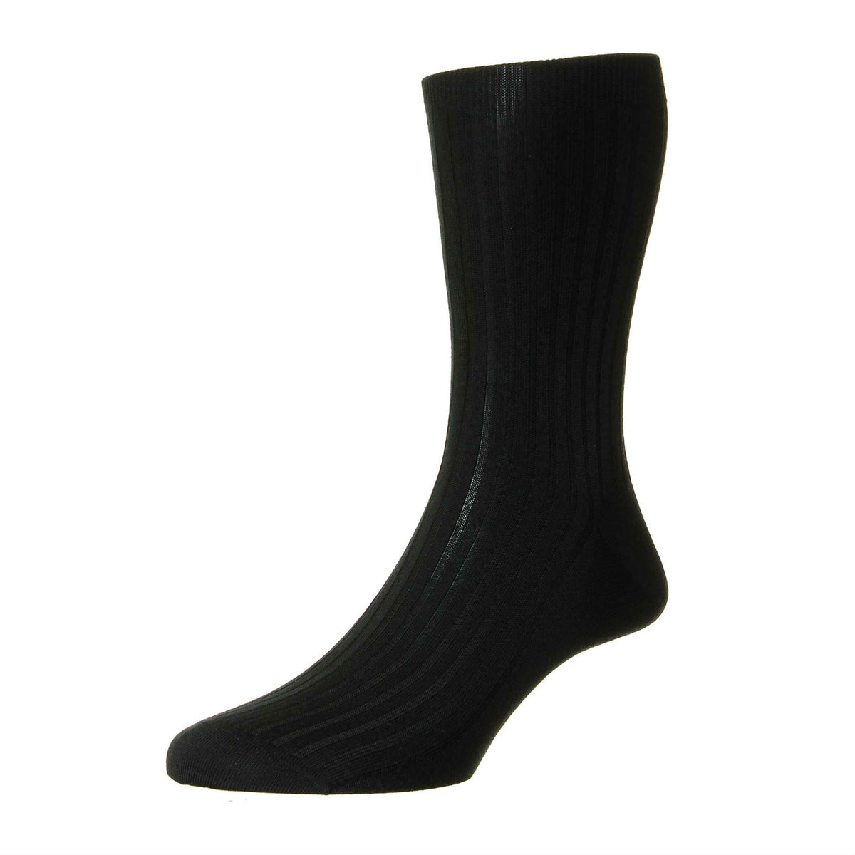 Mens Black Pure Cashmere Socks | Made in England | Calf Length Sock | shop at The Cashmere Choice London
