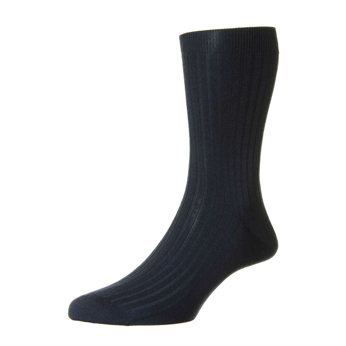 Mens Navy Blue Pure Cashmere Socks | Made in England | Calf Length Sock | shop at The Cashmere Choice London