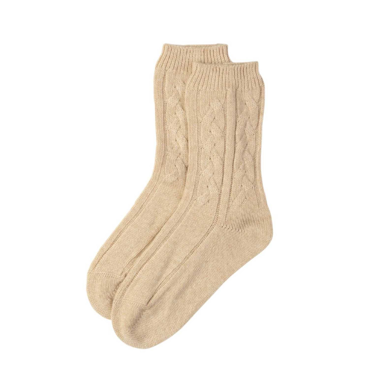 Natural Beige | Pure Cashmere Unisex Bed Sock | Shop at The Cashmere Choice | London