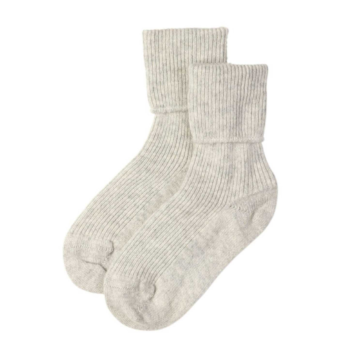 Ladies Grey Pure Cashmere Socks | Bed Sock | Shop now at The Cashmere Choice London