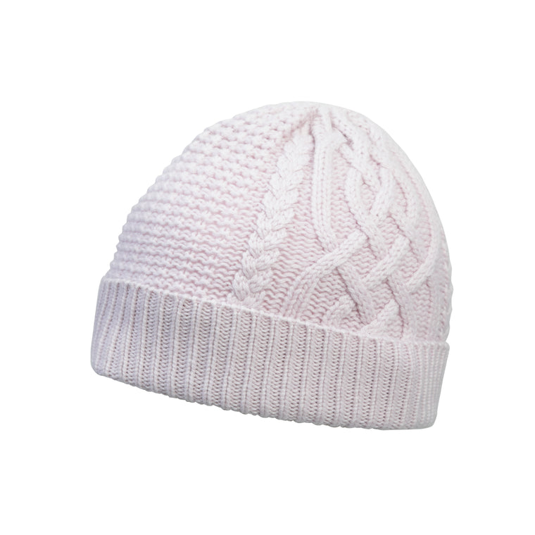 Scottish Cashmere - Aran Cable Knit - Pure Cashmere Beanie