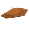 Dark Camel Savane French Beret | Wool Beret| buy now at The Cashmere Choice London