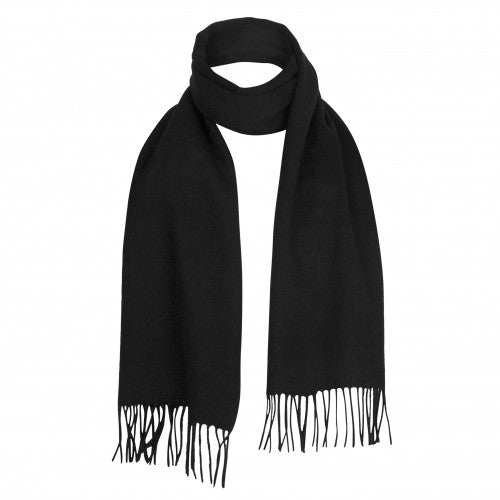 Black Lambswool Scarf | buy at The Cashmere Choice | London