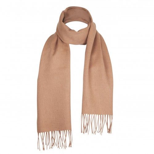 Camel Beige Lambswool Scarf | buy at The Cashmere Choice | London