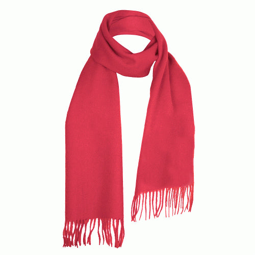Cerise Pink Lambswool Scarf | buy at The Cashmere Choice | London