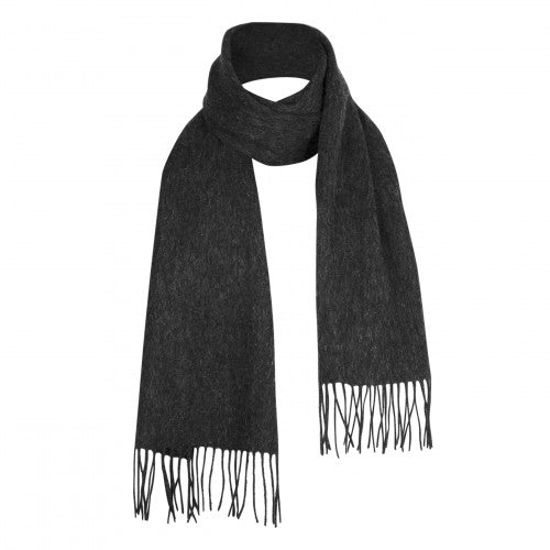 Charcoal Grey Lambswool Scarf | buy at The Cashmere Choice | London