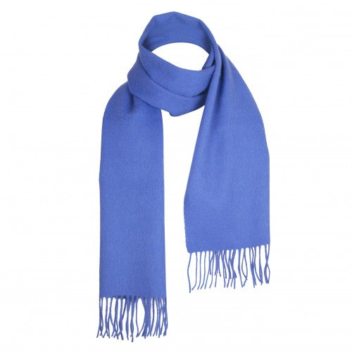Cornflower Blue Lambswool Scarf | buy at The Cashmere Choice | London