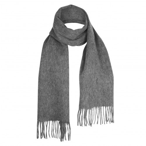 Medium Grey Lambswool Scarf | buy at The Cashmere Choice | London