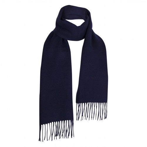 Navy Blue Lambswool Scarf | buy at The Cashmere Choice | London