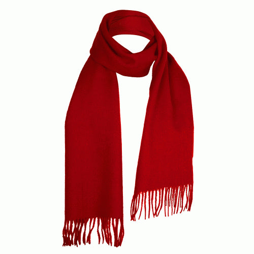 Red Lambswool Scarf | buy at The Cashmere Choice | London