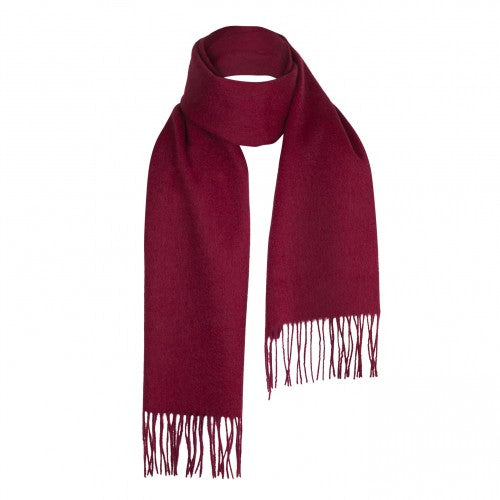 Wine Burgundy Lambswool Scarf | buy at The Cashmere Choice | London