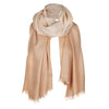 Beige Shaded Light Cashmere Stole | buy now at The Cashmere Choice London